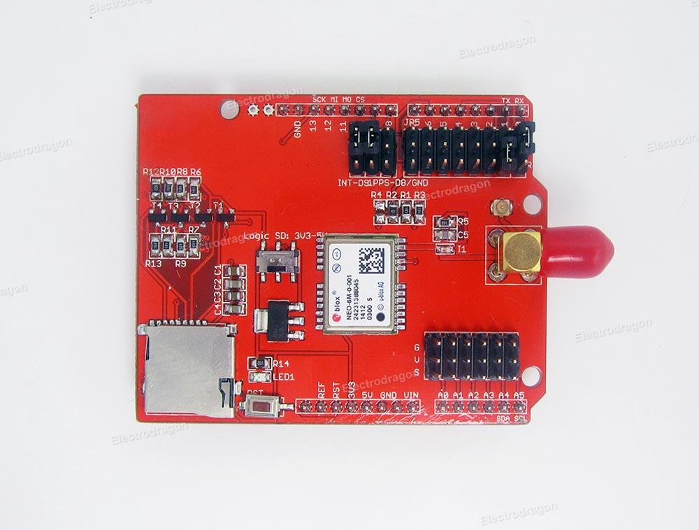 Arduino gps logger shield ublox neo m r electrodragon