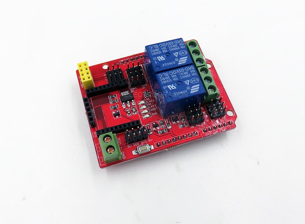 Wireless relays arduino shield electrodragon