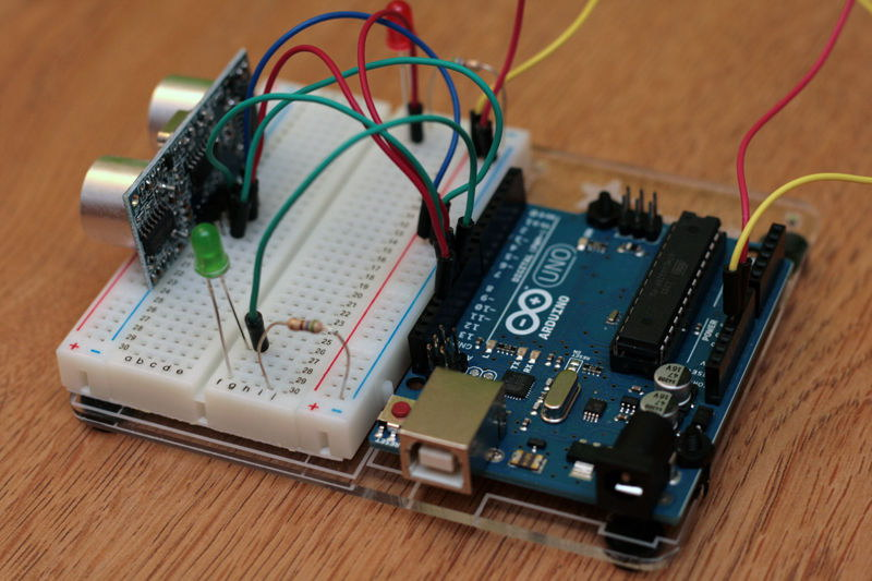 Ultrasonic Proximity Sensor with Arduino