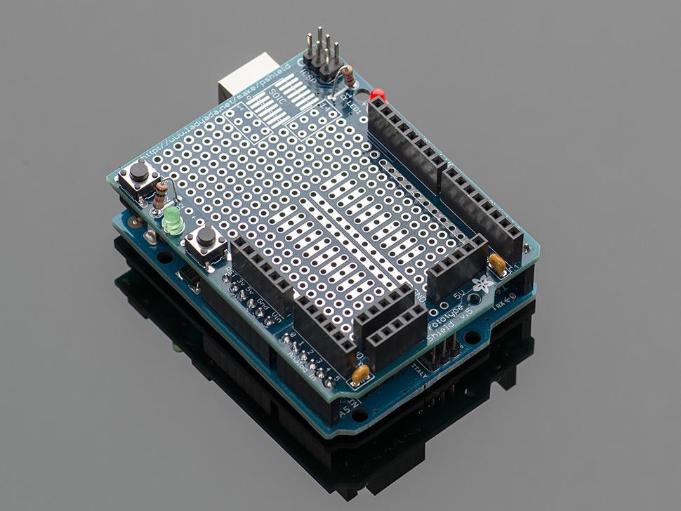 Arduino protoshield pcb design electrodragon