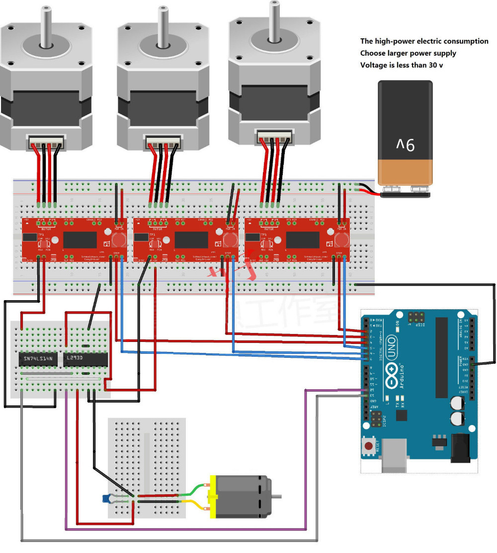 A3967 easy drive stepper motor driver electrodragon for Controlling a stepper motor